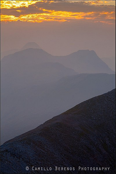 Hazy sunset in Torridon