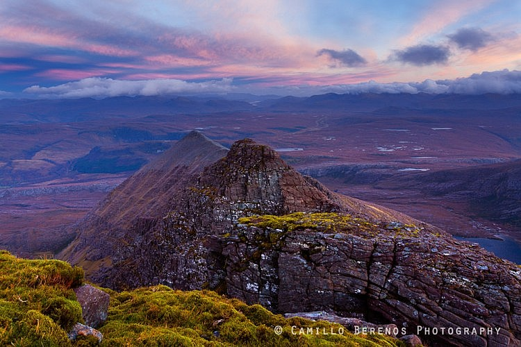 An Teallach is a popular photo location for its craggy and imposing main ridge. The above shot showing Glas Mheall Liath, a satellite ridge of An Teallach, shows that there are other less iconic compositions which are worth exploring too.