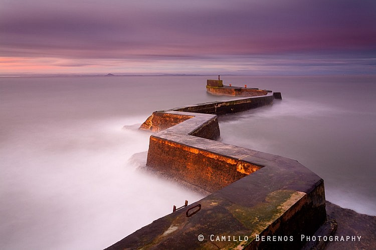 Jetty at the picturesque harbour of St Monans on the East Neuk coast at sunrise