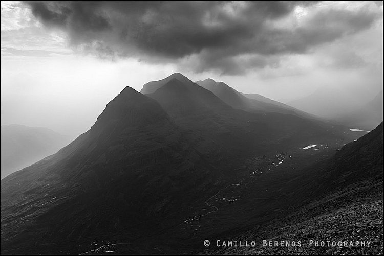 Dark clouds over Liathach, Torridon.