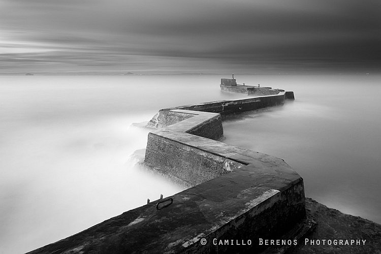 The breakwater at the fishing village of St Monans, Fife. I have a few colour versions of this trip as well, but I thought that the soft light before sunrise was perfect for a black and white conversion.
