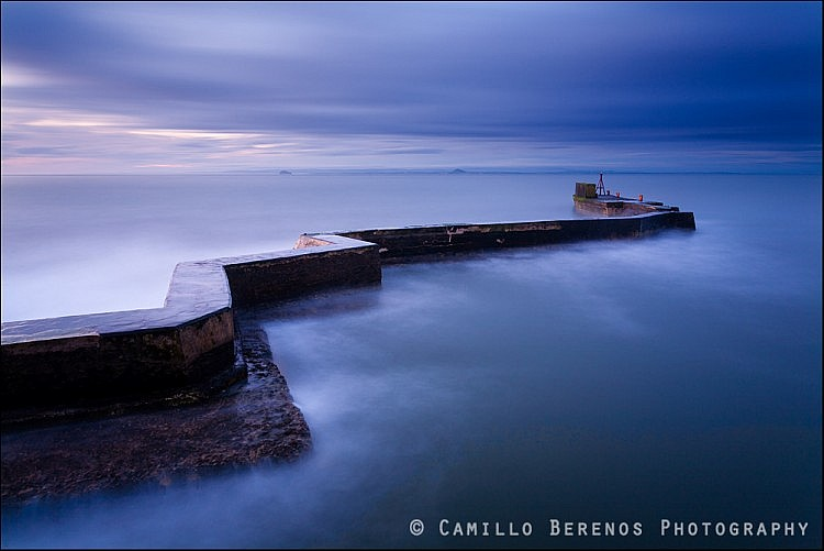 Blue hour, St Monans breakwater