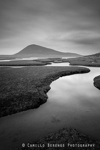 The Rodel salt marsh on the Isle of Harris in the Outer Hebrides.
