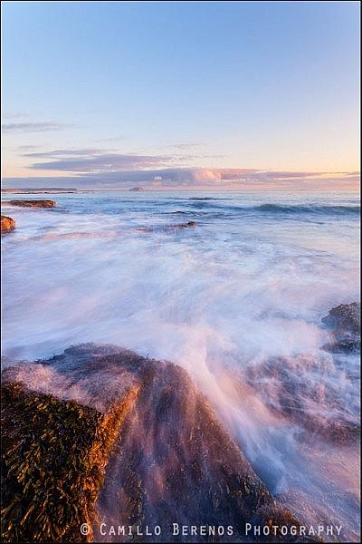Sunrise at tyninghame beach, East coast of Scotland
